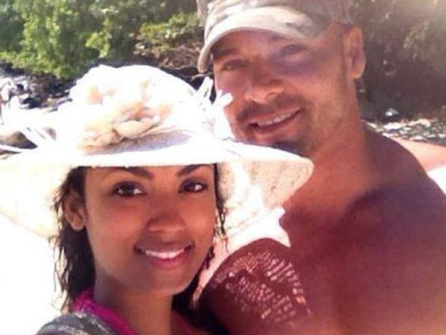 Missing man Eli Tonks with his fiancee, Ana James.