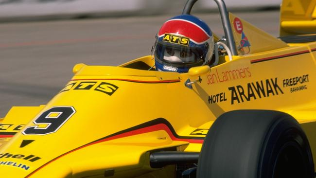 Jan Lammers raced for ATS in his first F1 career. Pic: Allsport