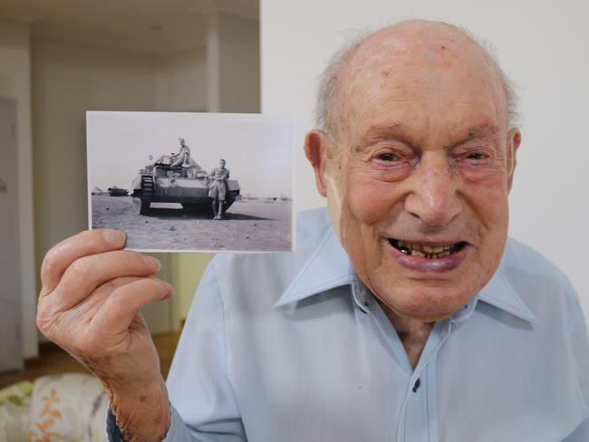 Desert warrior ... Rishi Sharma's photo of British-born, Adelaide-based WW2 veteran Viv Samuel who fought at El Alamein and in Italy as a tank commander