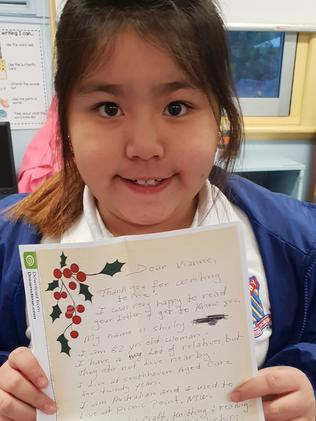 Revesby students connect with elderly by being pen pals