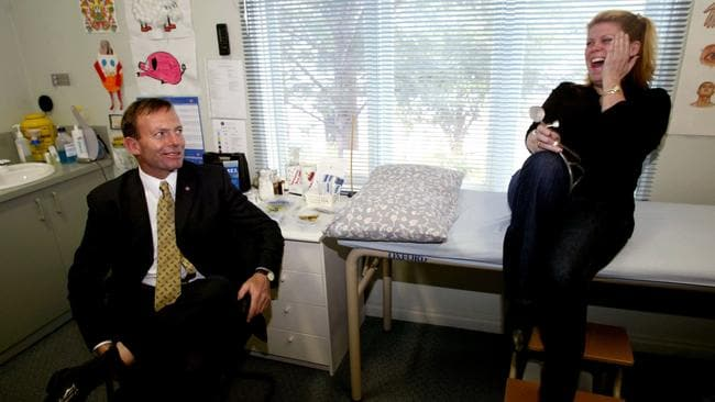 Dr Feelgood having a giggle with then Health Minister Tony Abbott in 2003.