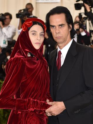 Susie Cave and Nick Cave attend the 2018 Met Gala in New York City. Picture: AFP