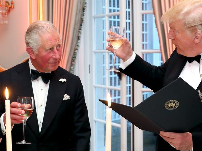 US President Donald Trump (R) has called Prince Charles the Prince of Whales. Picture: Getty