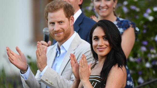 Prince Harry and Meghan in September 2019. Picture: Facundo Arrizabalaga – Pool/Getty Images
