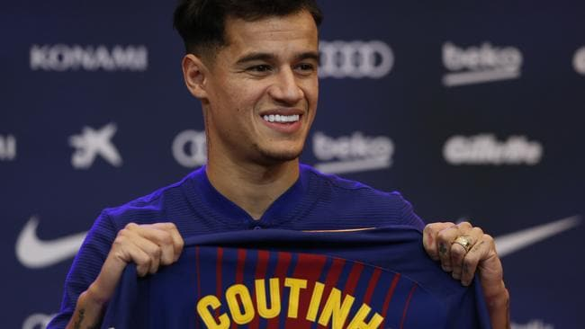 Barcelona's new signing Brazilian Philippe Coutinho