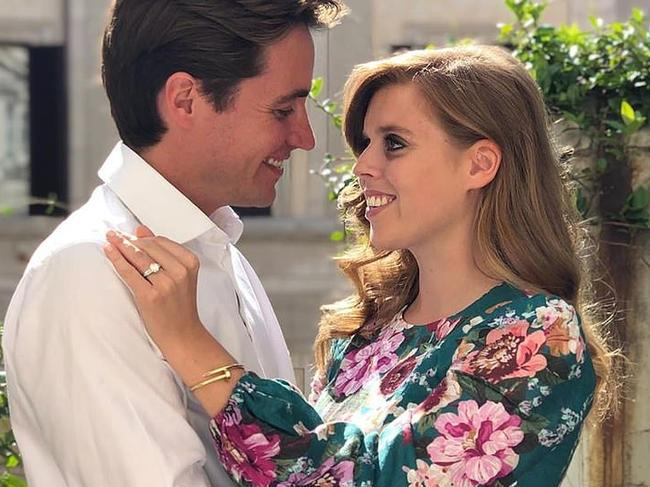 The Queen has reported approved a June wedding for Princess Beatrice and her property developer fiancé Edoardo Mapelli Mozzi. Picture: Supplied