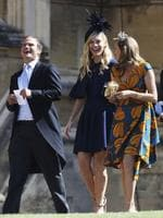 Prince Harry's ex-girlfriend, Chelsy Davy, centre, arrives. Image: Getty