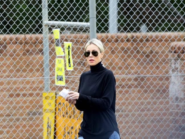 Roxy Jacenko leaves Parklea Prison after visiting her husband Oliver Curtis last Friday. Picture: Peter Kelly