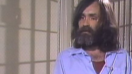 Crazed cult leader Charles Manson. Picture: Channel Nine / 60 Minutes