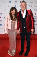 Jimmy Barnes and Jane Mahoney arrive on the red carpet for the 30th Annual ARIA Awards 2016 at The Star on November 23, 2016 in Sydney, Australia. Picture: AAP