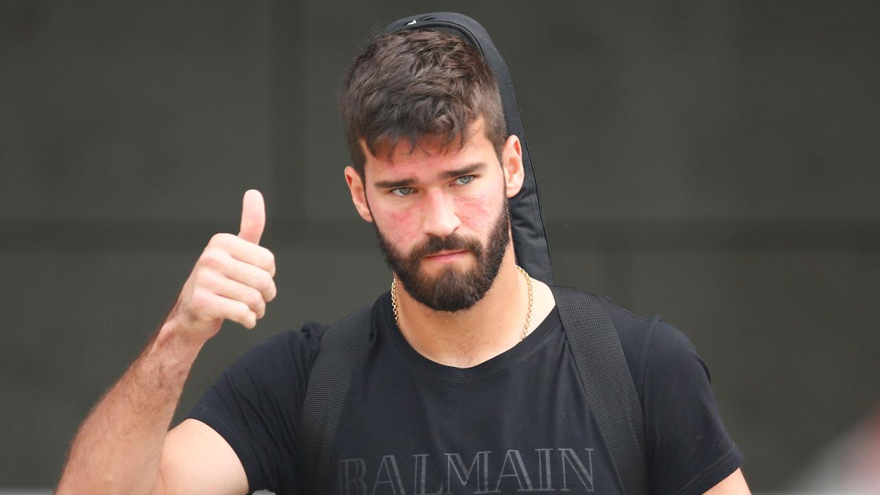 Brazil's goalkeeper Alisson leaves his team's hotel in Kazan.