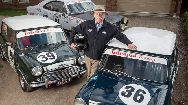 Need for speed ... Michael Holloway, 64, is a race car driver who races both track and rally cars. Picture: Jake Nowakowski