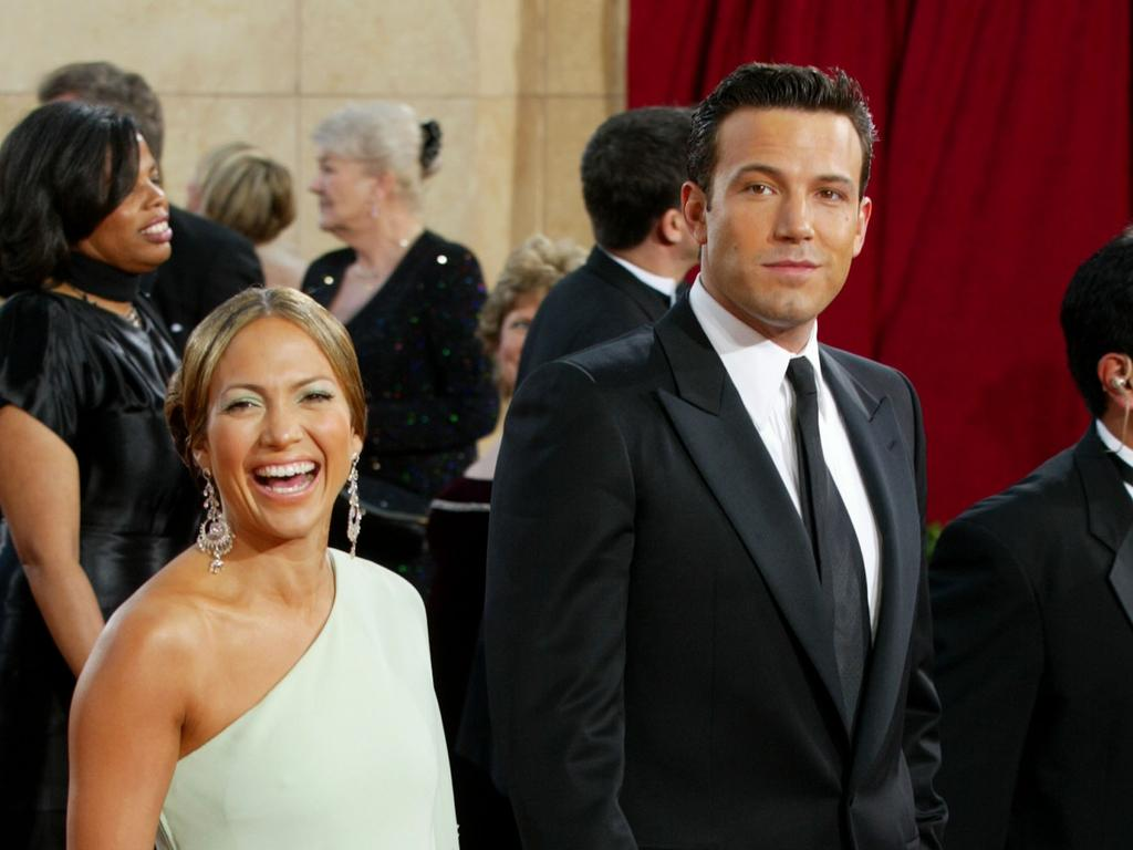Ben Affleck and fiancee Jennifer Lopez in 2003. Picture: Kevin Winter/Getty Images