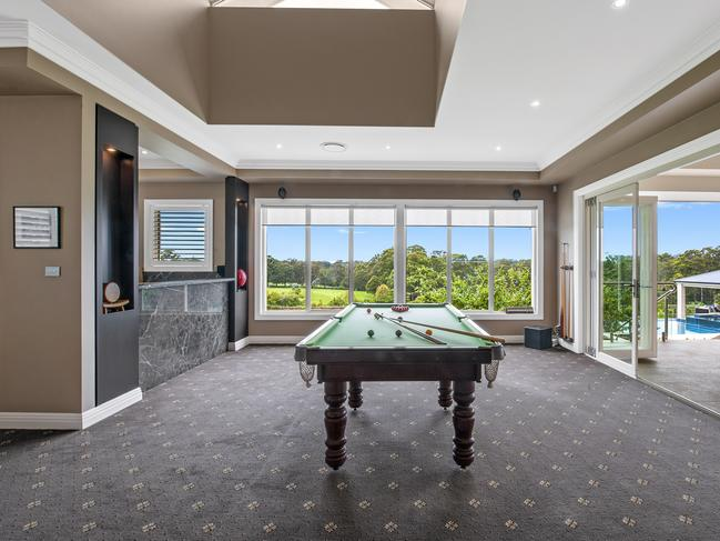 The home's games room overlooks the property