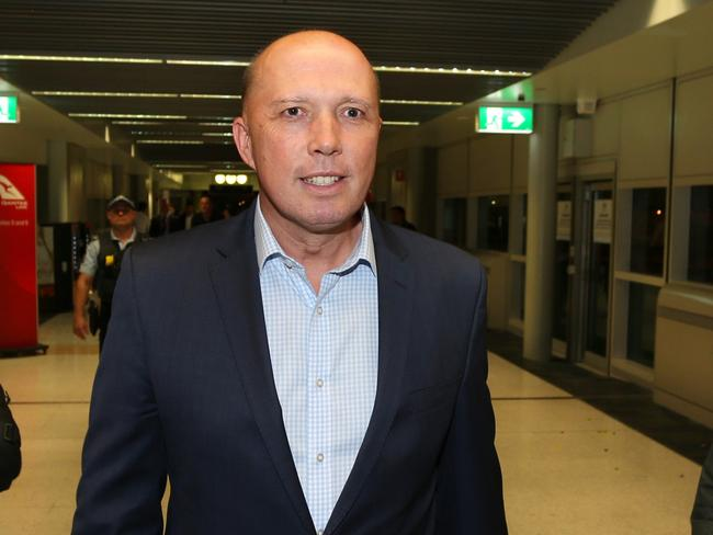 Peter Dutton is under mounting pressure over his involvement in the au pairs saga. Picture: AAP