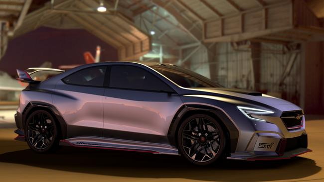 Subaru's Viziv Performance STI concept provided a hint of the future. Pic: Supplied.