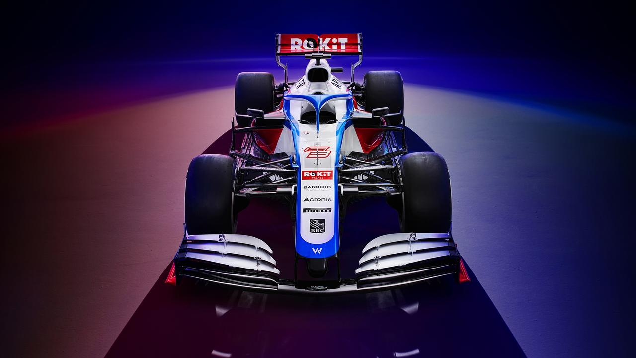 The front view of the FW43.