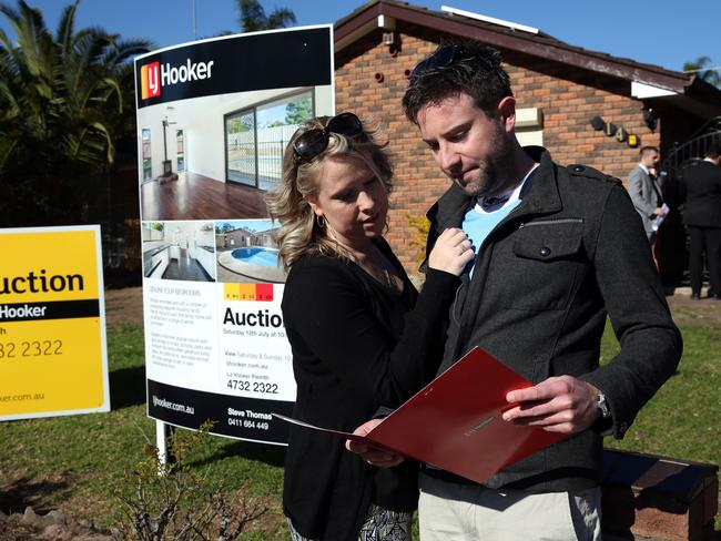 Young first home buyers Ben Carter and Chevonne Chivas check out the market.