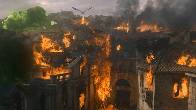 Red-hot controversy … Dany's deadly dragon attack has turned viewers off her in droves.