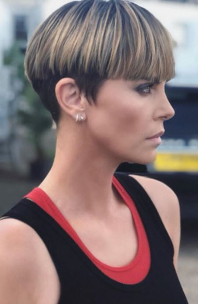 Charlize Theron fights for the once-mocked bowl cut. Source: @charlizeafrica/Instagram