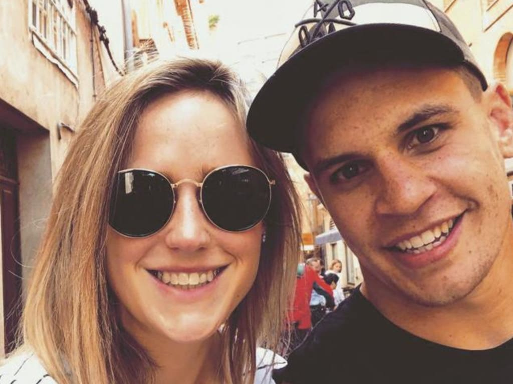 Ellyse Perry and husband Matt Toomua, from Perry's book Perspective