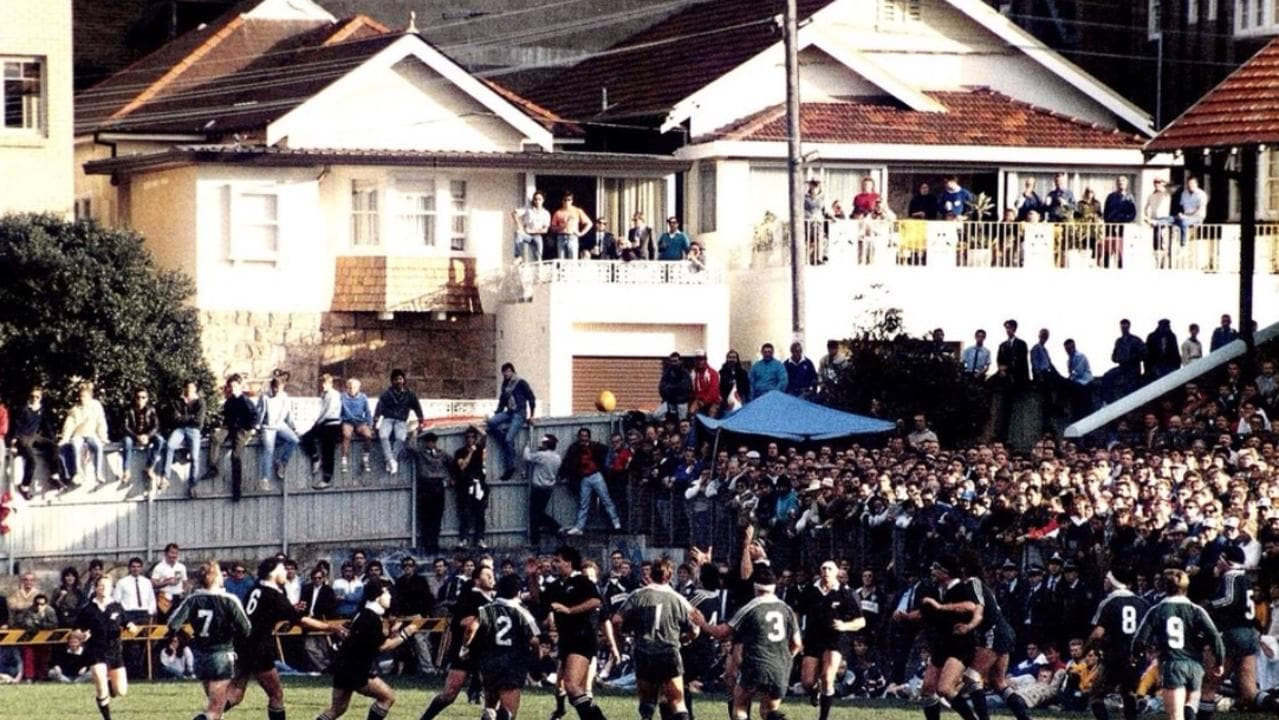 An crowd of 9000 packed Coogee Oval in 1988 to see Randwick take on the All Blacks.