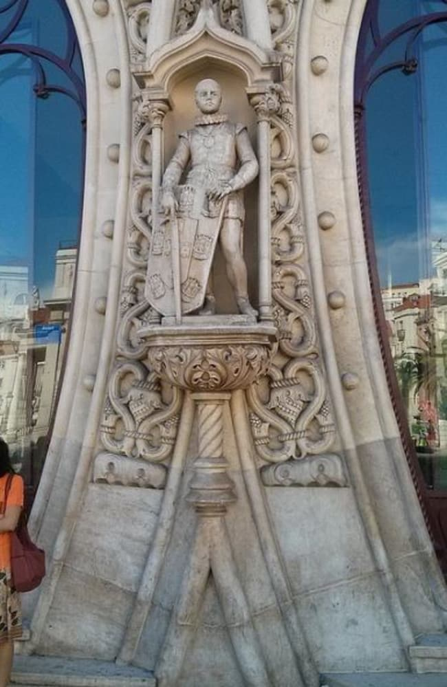 The statue of former king Dom Sebastiao — before it was destroyed. Picture: Peter Burka