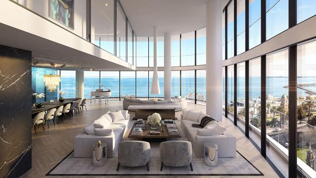 Luxe penthouse sets 30m melbourne apartment record - 2 bedroom apartments melbourne for rent ...