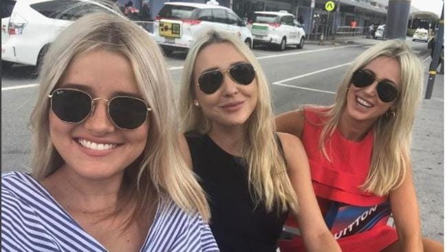 Roxy Jacenko with Sweaty Betty publicists Gemma Oldfield and Holly Asser as they move into new offices in Sydney.