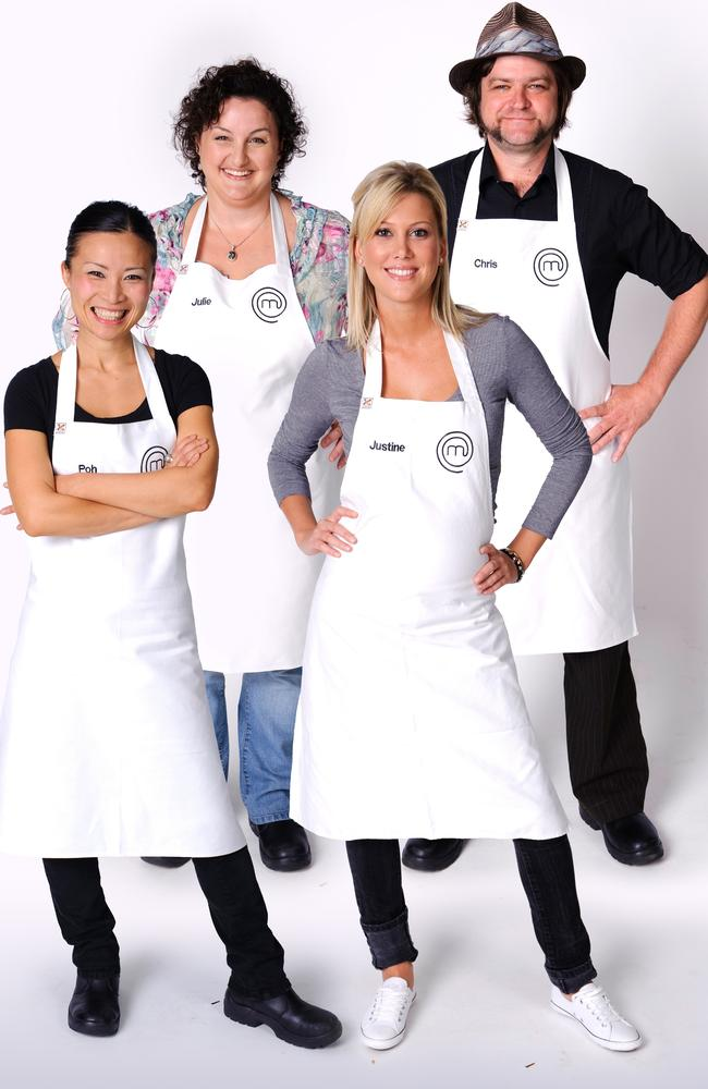Poh Ling Yeow, Julie Goodwin, Justine Schofield, Chris Badenoch in MasterChef All Stars