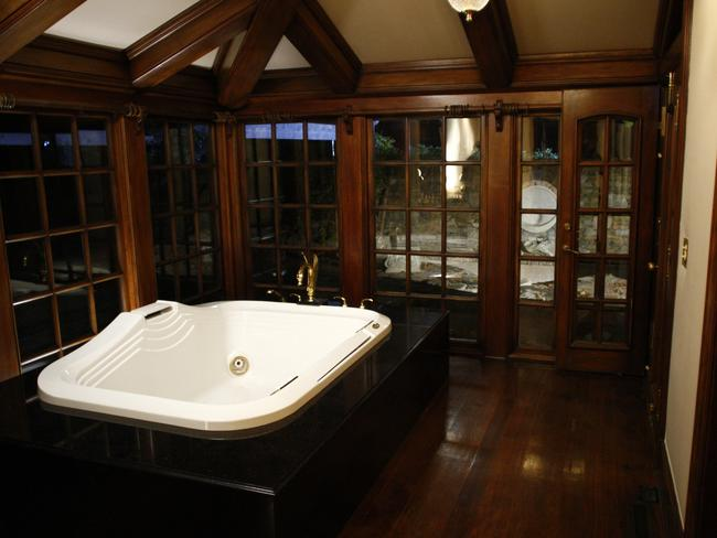 An indoor spa bath as seen during a tour of the ranch by NBC after Jackson's death. Picture: Trae Patton/NBC/NBCU Photo Bank/Getty Images