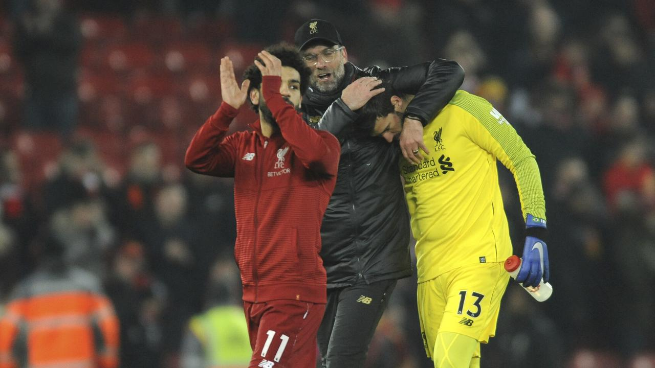 Alisson says Liverpool are only thinking about themselves.