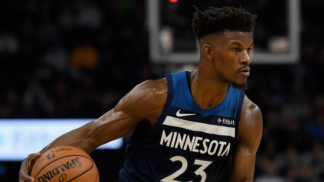 Jimmy Butler ruffled feathers at the practice session. Hannah Foslien/Getty Images/AFP