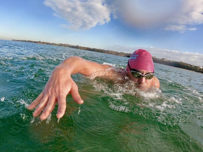 The 44-year-old has now turned his life around through swimming.