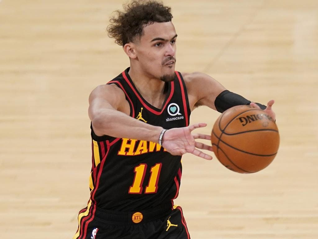 Trae Young was happy to play the villain.