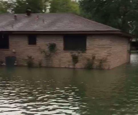 Homes Flooded in Beaumont as Harvey Makes Second Landfall. Credit - Facebook/Mark Berman via Storyful