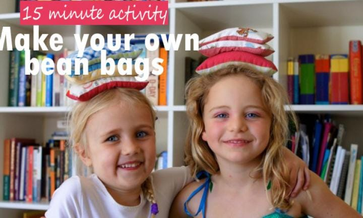 Homemade bean bags and 3 games to play with them - Kidspot