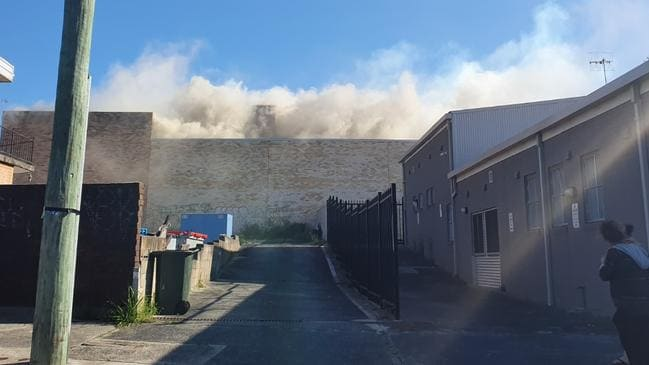 Up to 50 firefighters battled the blaze at The Entrance. Picture: supplied