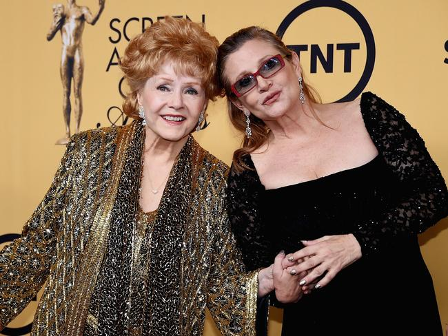 Debbie Reynolds and Carrie Fisher before they passed away. Picture: AFP