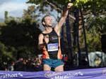 Nick Earl breaks the record in the 2020 Cadbury Marathon. Picture: LUKE BOWDEN