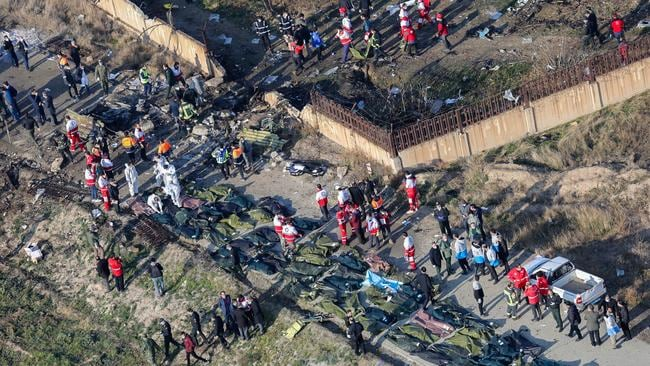 Forty rescue groups work at the crash site. Picture: Rouhollah VAHDATI / ISNA / AFP.