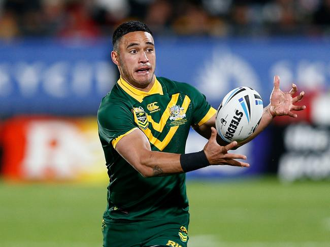 Valentine Holmes scored his 12 try in four Test matches.