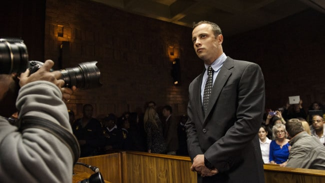 Oscar Pistorius appears in the Pretoria Magistrates court on June 4, 2013, in Pretoria, South Africa. Image: Getty