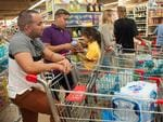 People make Hurricane Irma preparations at a Winn Dixie store in South Florida on September 6, 2017 in Hallandale, Florida. Picture: AFP PHOTO / Michele Eve Sandberg