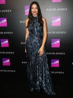 Jessica Gomes at the David Jones Autumn Winter 2017 Collections Launch held at the St Mary's Cathedral Forecourt in Sydney. Picture: Christian Gilles