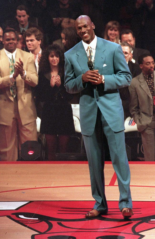 Michael Jordan in one of his signature suits. Picture: AFP
