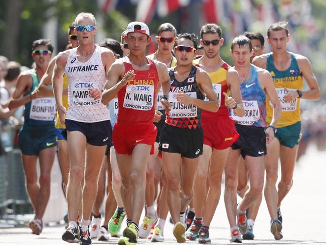 Dane Bird-Smith struggled in the 20km walk.
