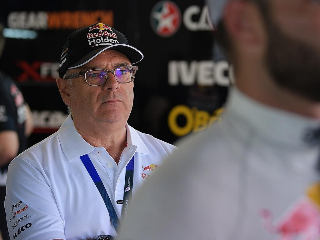 ADELAIDE, AUSTRALIA - MARCH 02: Roland Dane team owner of Red Bull Holden Racing Team looks on during the top 10 shootout for Supercars Adelaide 500 on March 2, 2018 in Adelaide, Australia. (Photo by Daniel Kalisz/Getty Images)
