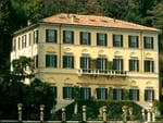 View of the Villa Le Fontanelle - the home belonging to the late Gianni Versace on the shore of Lake Como in Moltrasio, Italy on March 22, 2006. He willed the home to his niece Allegra Versace. Gianni Versace is buried on the property. Picture: Ron Sachs / CNP / Alamy
