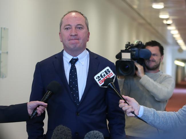 Deputy PM Barnaby Joyce has slammed both sides of the gay marriage debate for over-the-top activism. Picture: Kym Smith